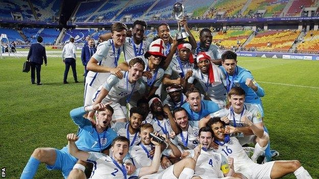 England Under-20s win the World Cup