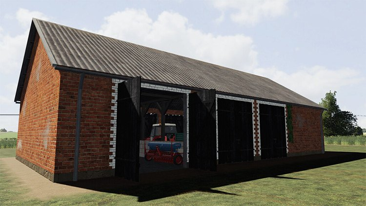 Barn With Chicken Coop Mod for FS19
