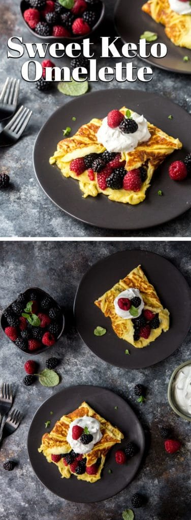 This Sweet Healthy Omelette puts a spin on breakfast with a touch of sweetness and some berries!