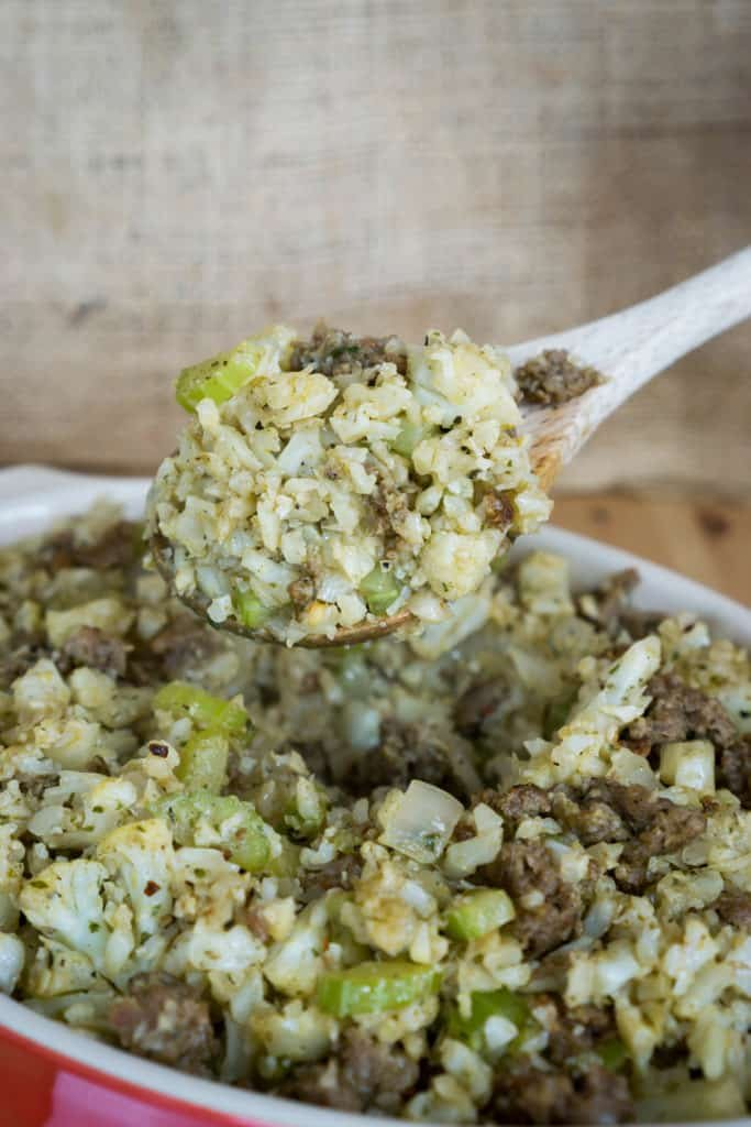 spoonful of keto stuffing