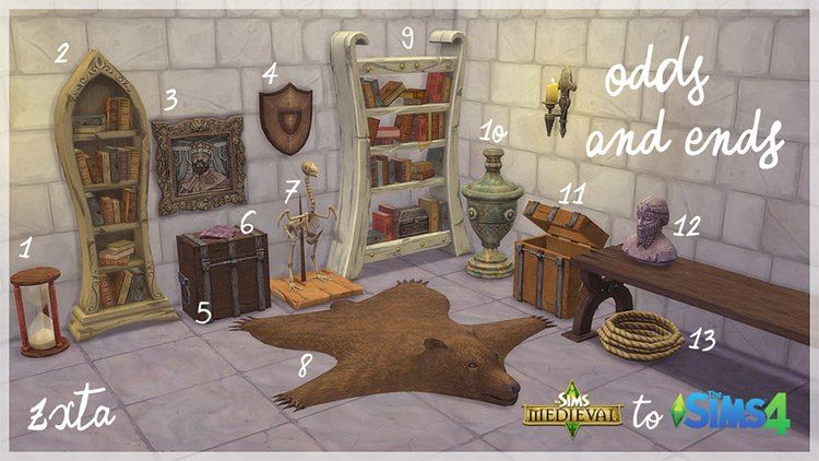 Medieval Clothes, Hair, Furniture & More –