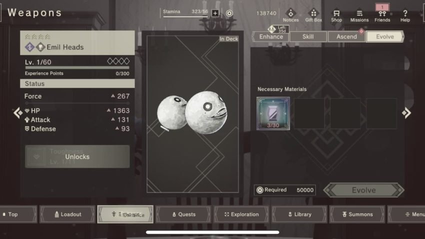How to increase weapon abilities in Nier Reincarnation