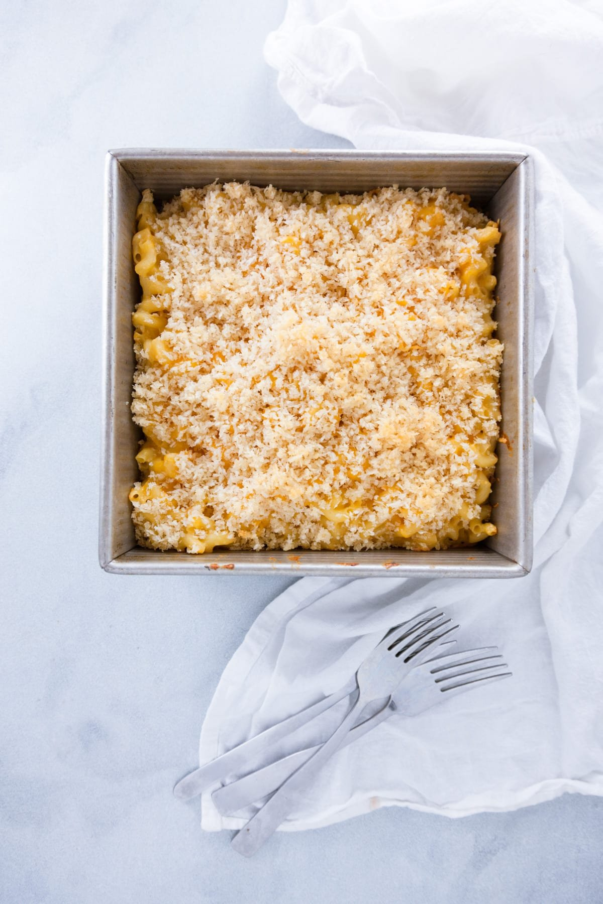 Crumb Topped Baked Mac and Cheese