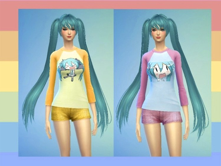 Sims 4 Vocaloid & Hatsune Miku CC (All Free To Download) –