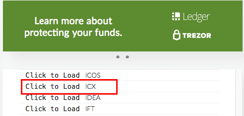 Finding ICON (ICX) in MyEtherWallet
