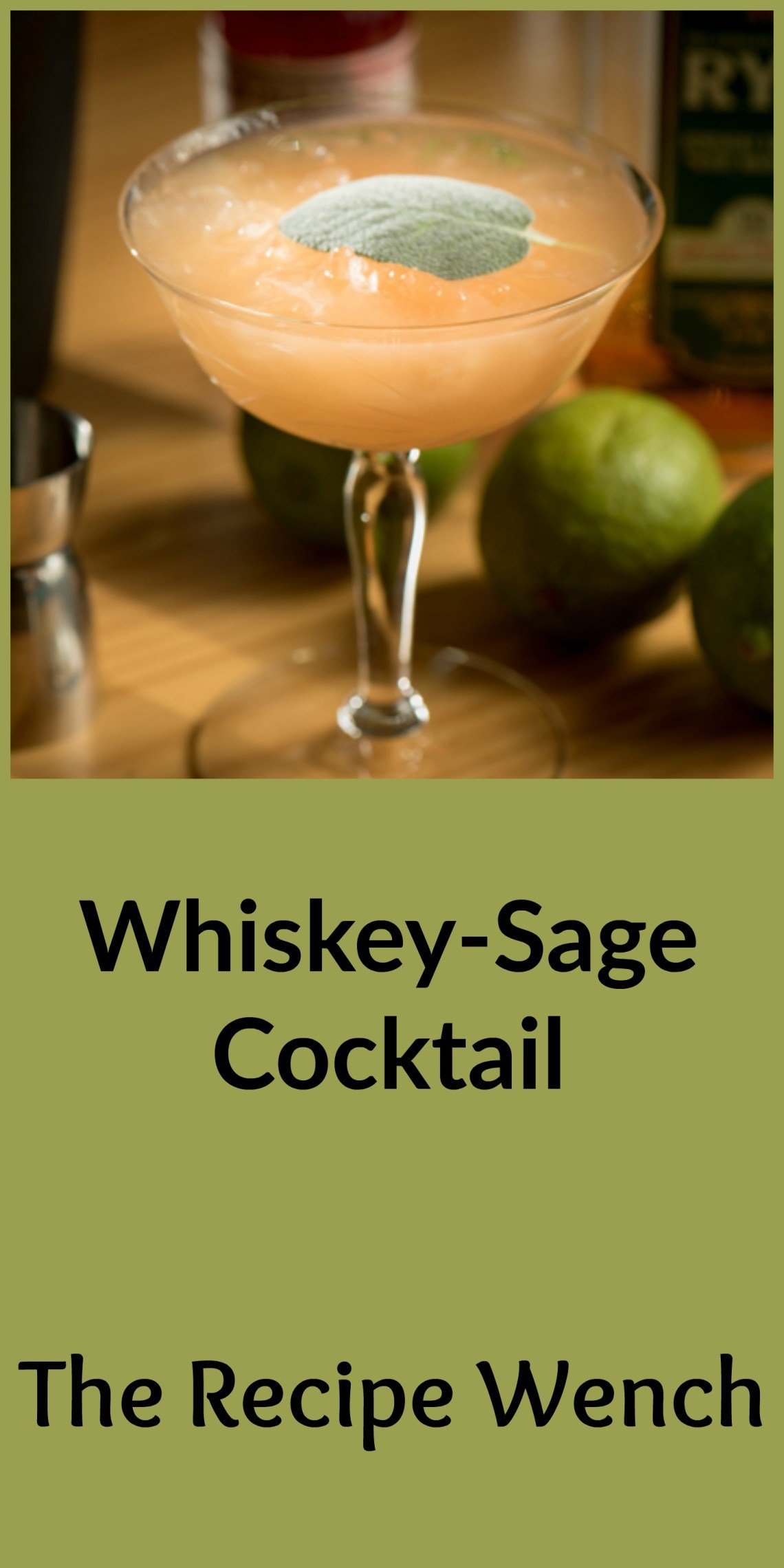 Sexy whiskey sage cocktail unites spicy whiskey and sage to bring you a cocktail perfect for sipping in the cooler winter months. It's a handsome drink too! Win!  