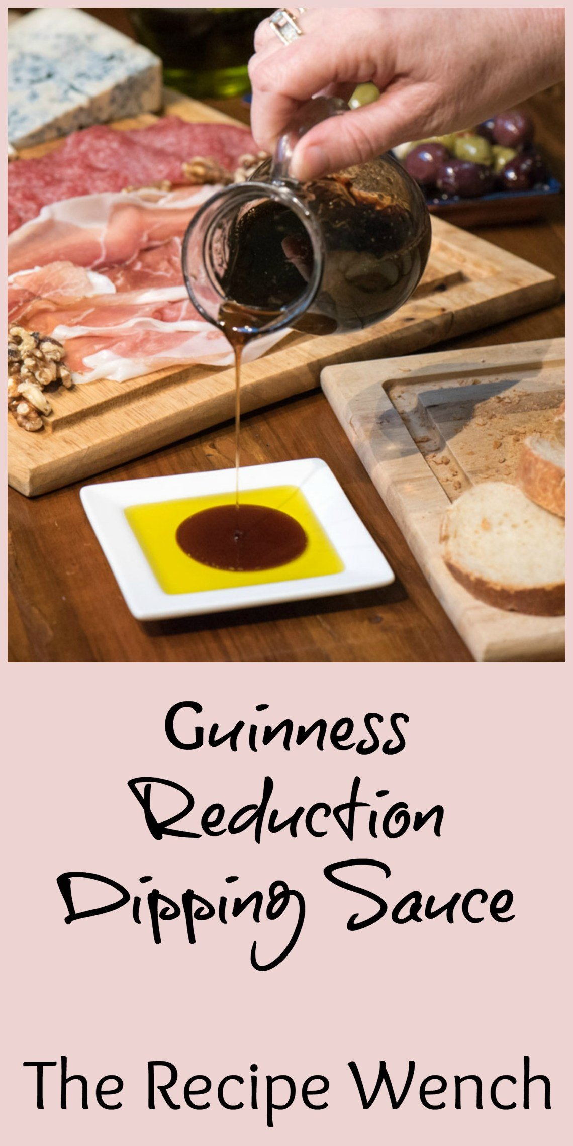 Life's simple pleasures - olive oil drizzled with an easy Guinness reduction. The perfect addition to a cheeseboard |
