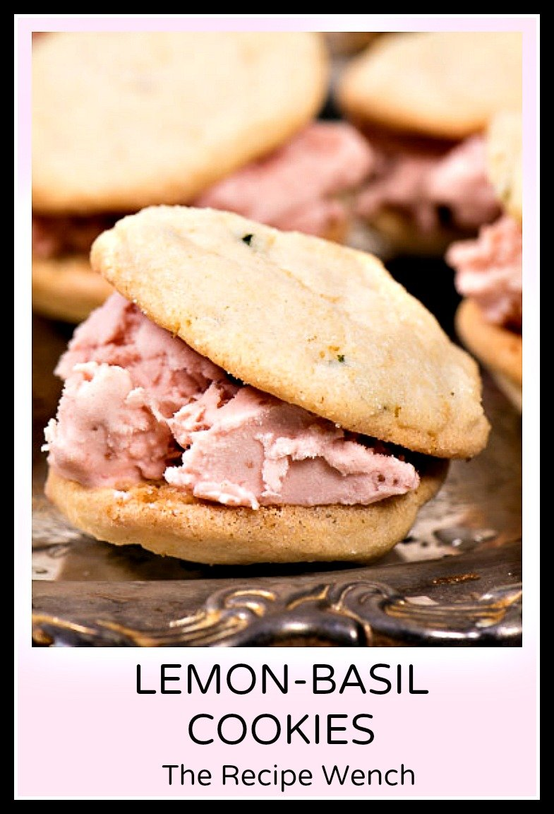 Lemon basil cookies with fresh lemons. Try these with strawberry ice cream!  