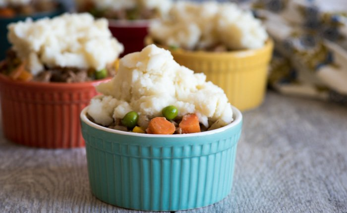 One of the easiest Shepherd's Pie recipes out there. No crust - just delicious flavor. Use instant mashed potatoes to cut prep time. I love this! |