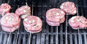 Grilled stuffed flank steak -- easy enough for a weeknight; fancy enough for company!  