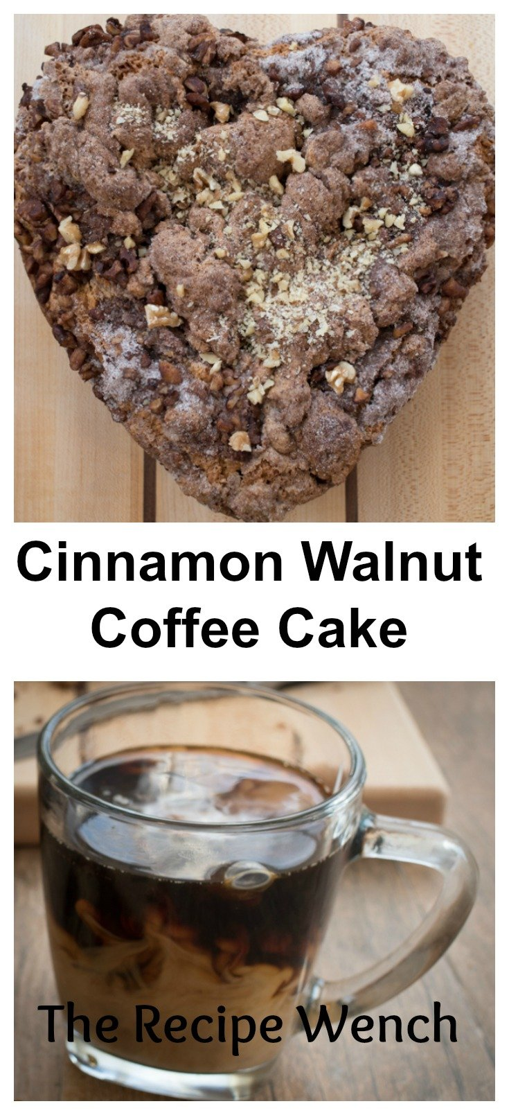 Here's a great recipe for cinnamon walnut coffee cake. Pour yourself a big glass of milk or hot cup of coffee and enjoy! -