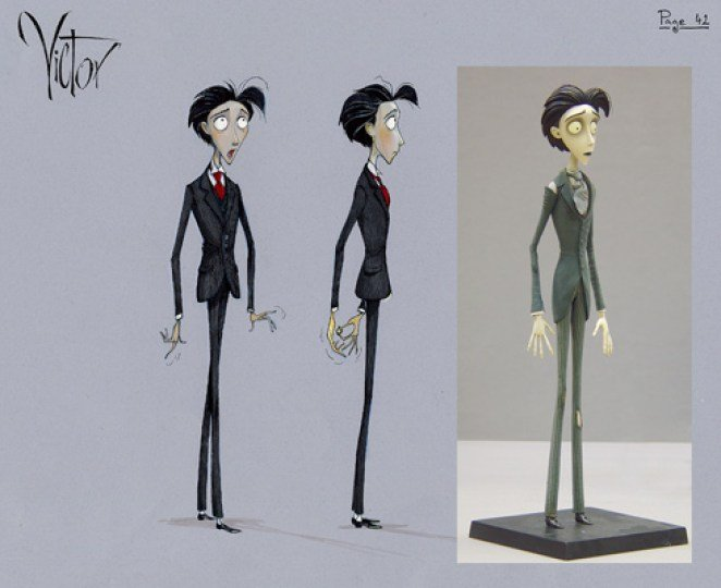 Sketches and puppet for Victor