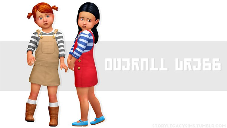 Toddler Overalls Dress / Sims 4 CC