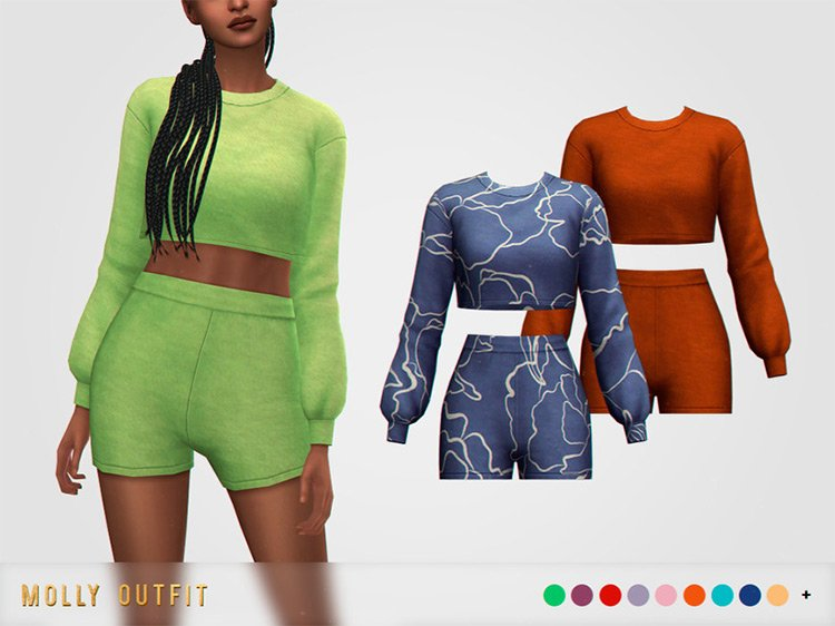 Molly Outfit / Sims 4 CC