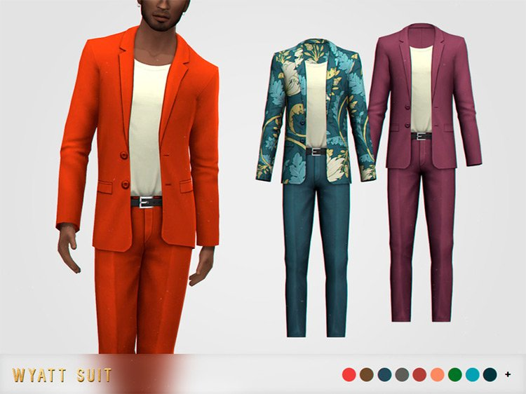 Wyatt Suit CC for The Sims 4