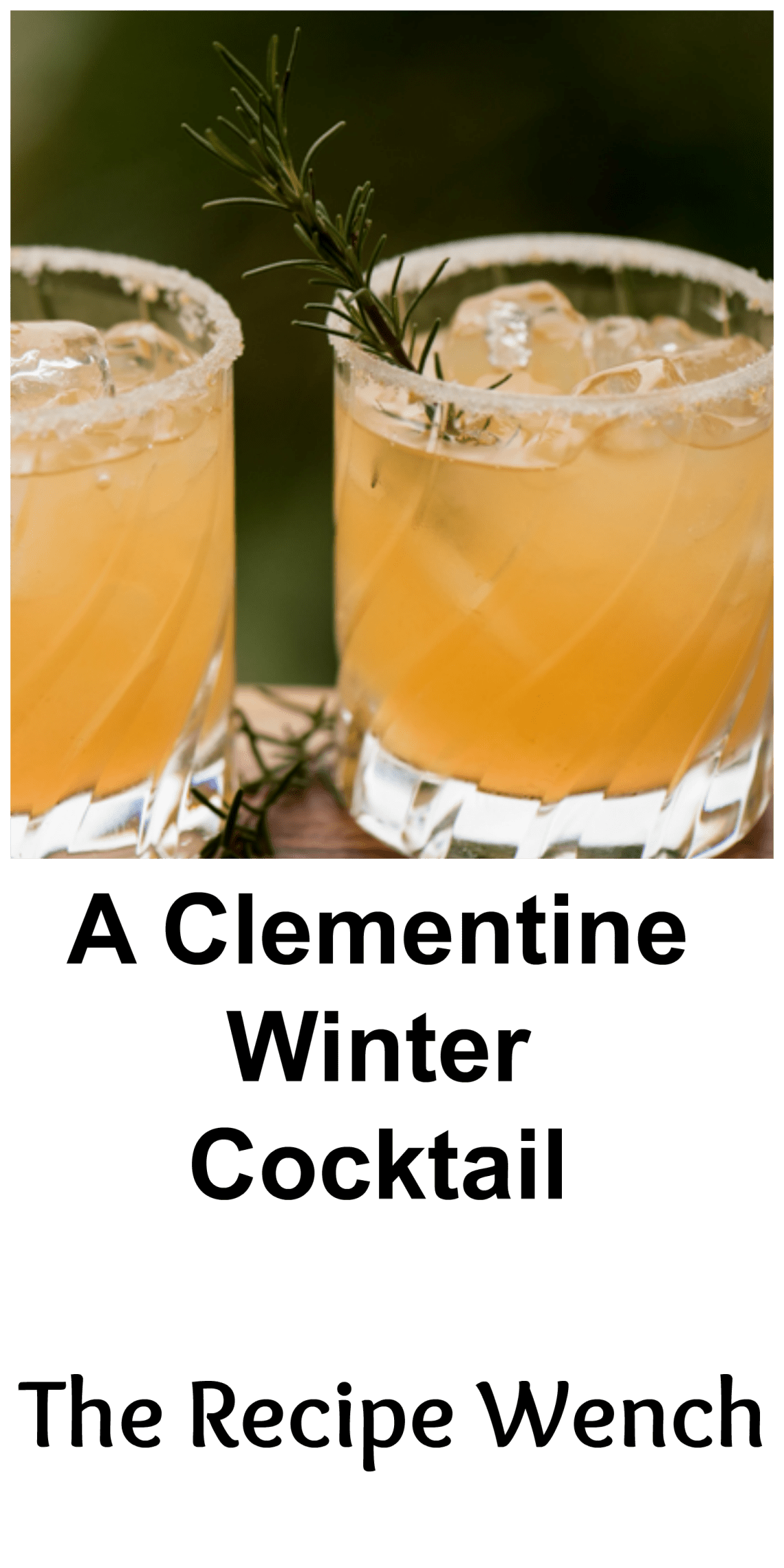 Clementines, lemon, rosemary and vodka. A refreshingly delicious cocktail to enjoy this winter! |