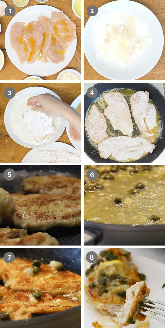 keto piccata chicken recipe step by step instructions