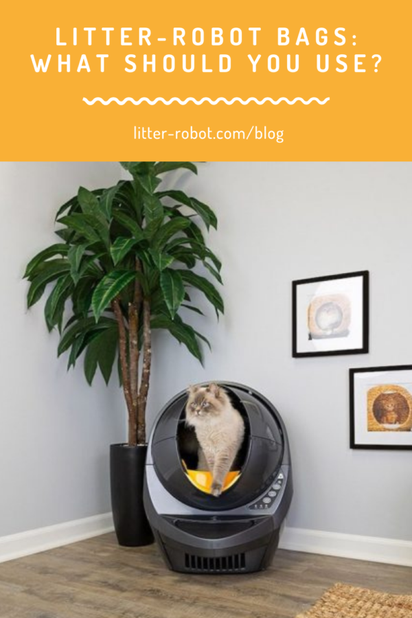 Siberian cat stepping over Litter-Robot fence - what Litter-Robot bags should you use?