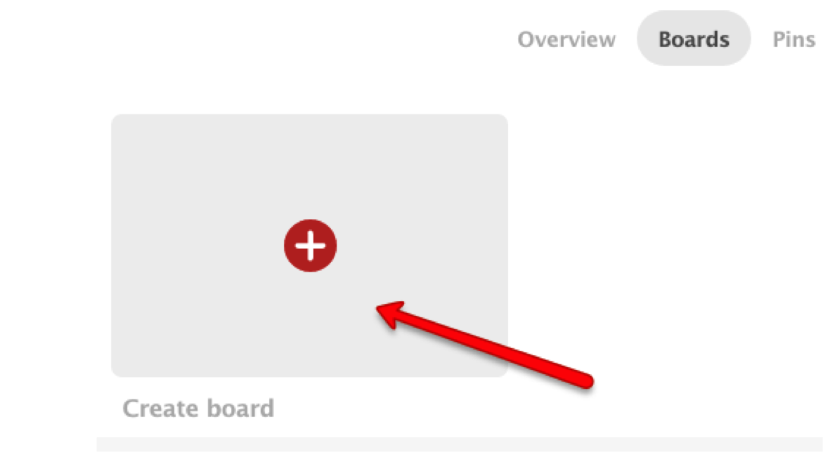 How to create your first Pinterest Board