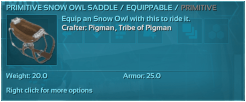 1631489412_880_Ark-Snow-Owl-Guide-Abilities-Controls-Taming-Food-Saddle-Breeding