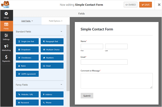 Simple Contact Form