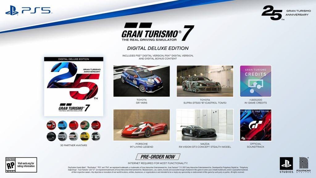 1632252030_864_Gran-Turismo-7s-25th-Anniversary-Edition-and-Pre-Order-Items-Detailed