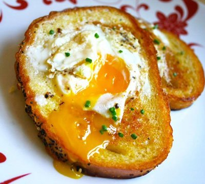 screenshot of hole in one egg french toast