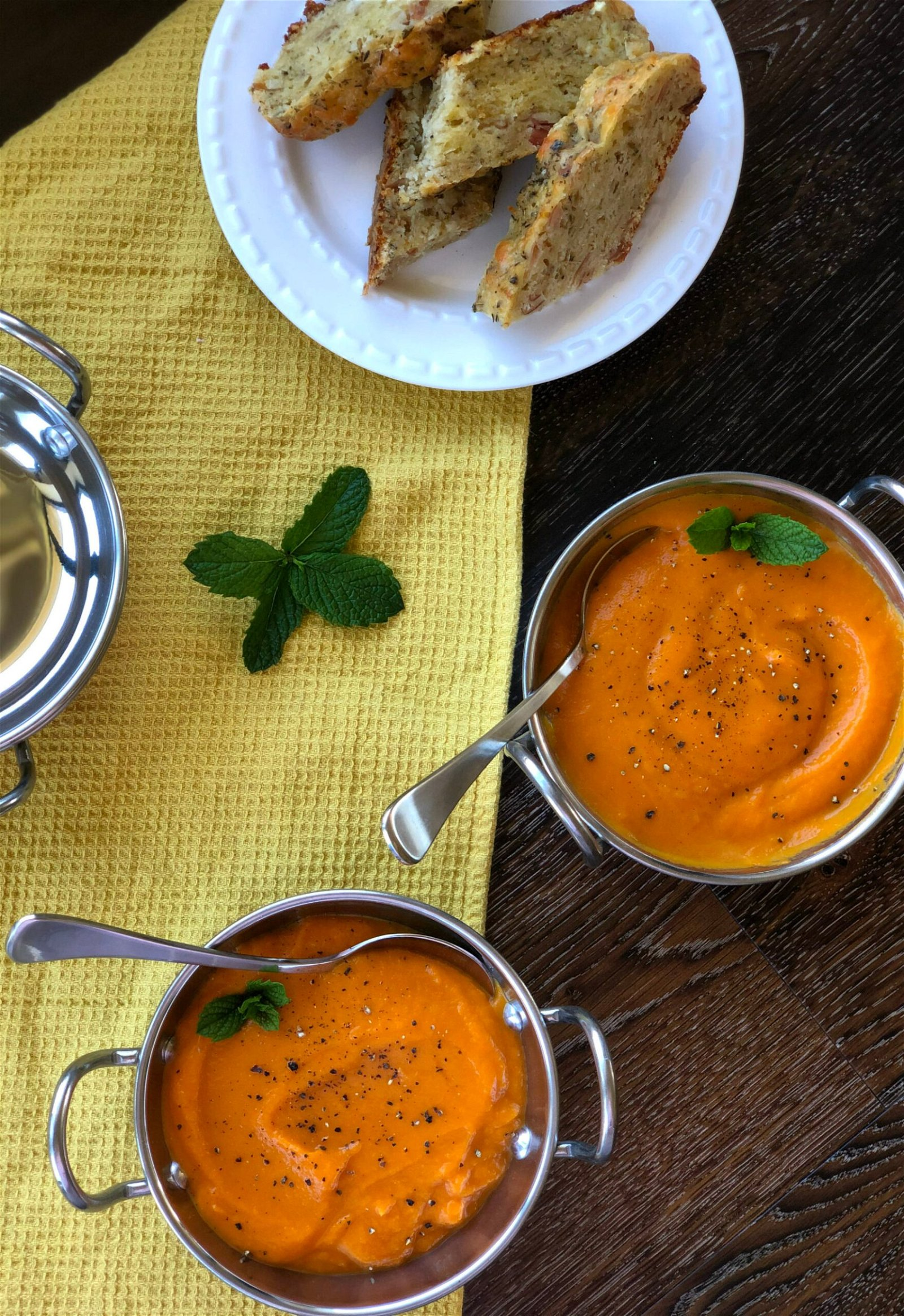 Carrot Soup with Fresh Slow Cooker Loaf