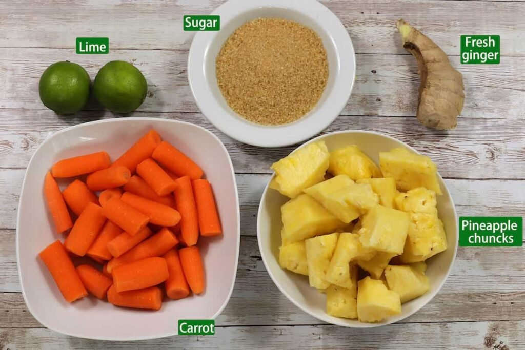 carrot and pineapple ingredients-min