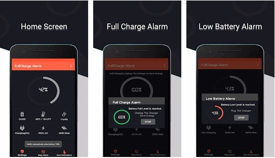 Android App For Full And Low Charging Alerts
