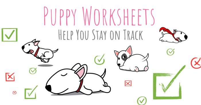 puppy worksheets help you stay on track