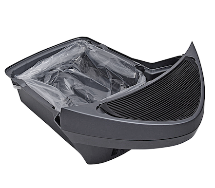 Litter-Robot bags in grey waste drawer