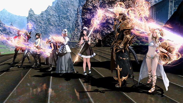 Epic of Alexander Clear with Shiny Weapons / FFXIV HD Screenshot