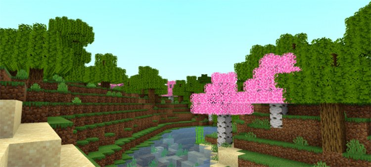 Fused's Lush Leaves mod for Minecraft