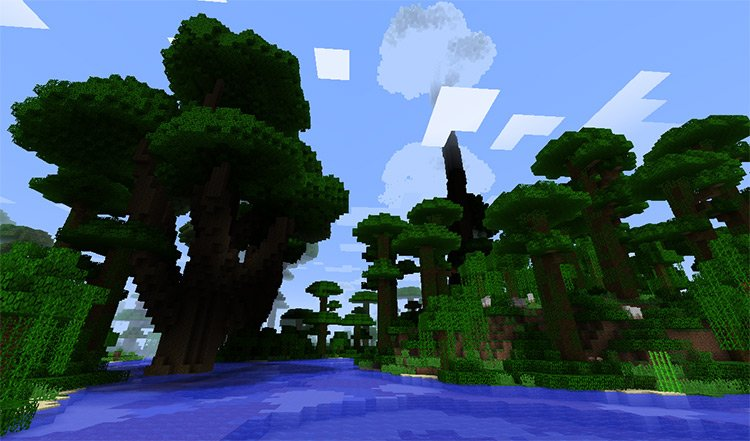 Tan's Huge Trees mod for Minecraft