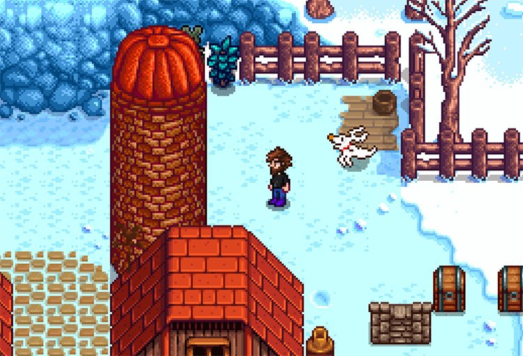 Zero from the Nightmare Before Christmas Mod for Stardew Valley