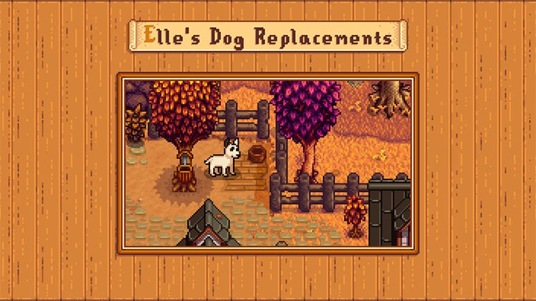 Elle's Dog Replacements Mod for Stardew Valley