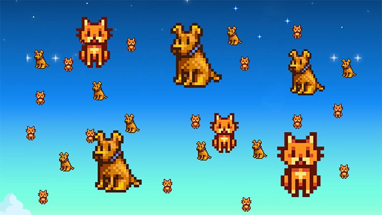 Unlimited Cats and Dogs Mod for Stardew Valley