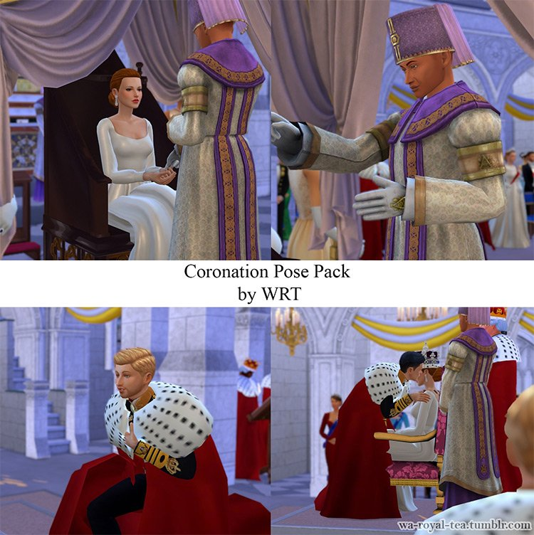 Coronation Pose Pack by WRT for Sims 4