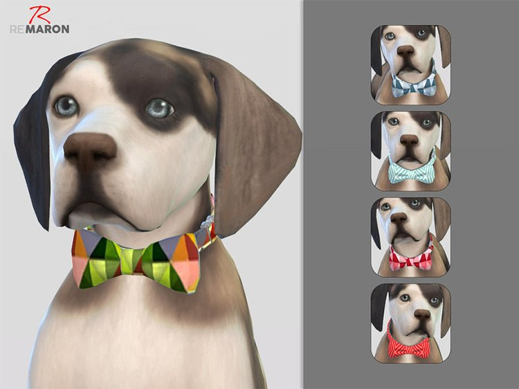 Bow-tie For Small Dogs for The Sims 4
