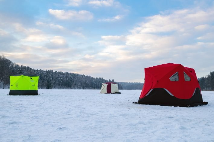 how to choose ice fishing flip over shelter
