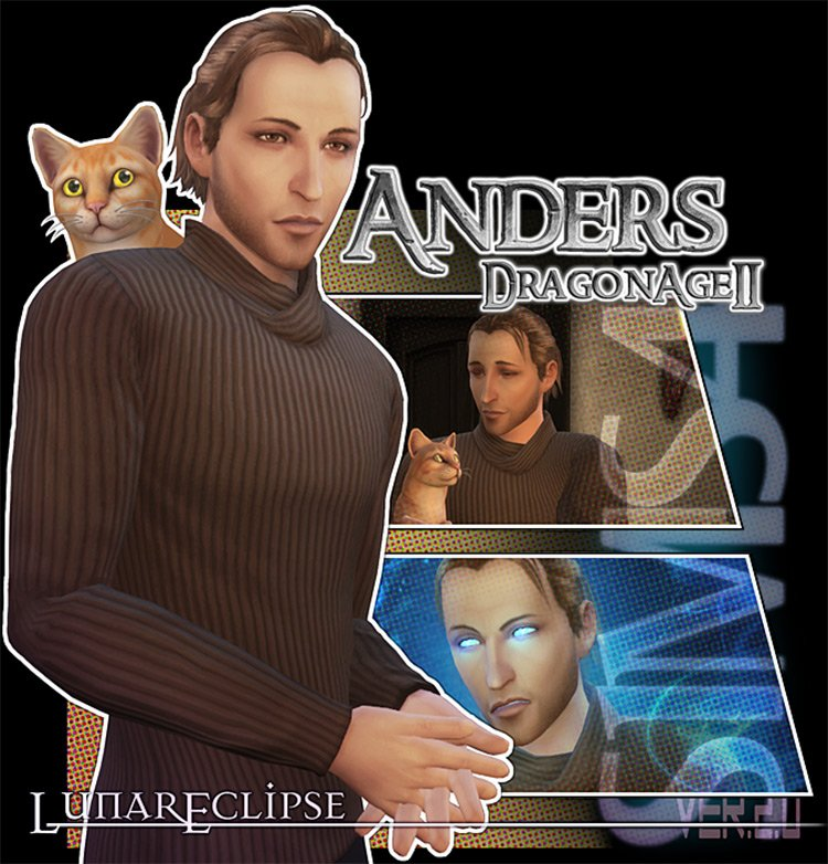 Anders CC Set (Dragon Age) for The Sims 4