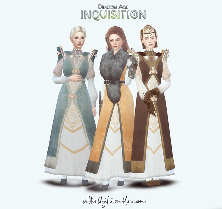 Ferelden Noble Outfits for The Sims 4