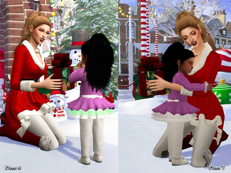MSI Christmas (Pose Pack) for The Sims 4