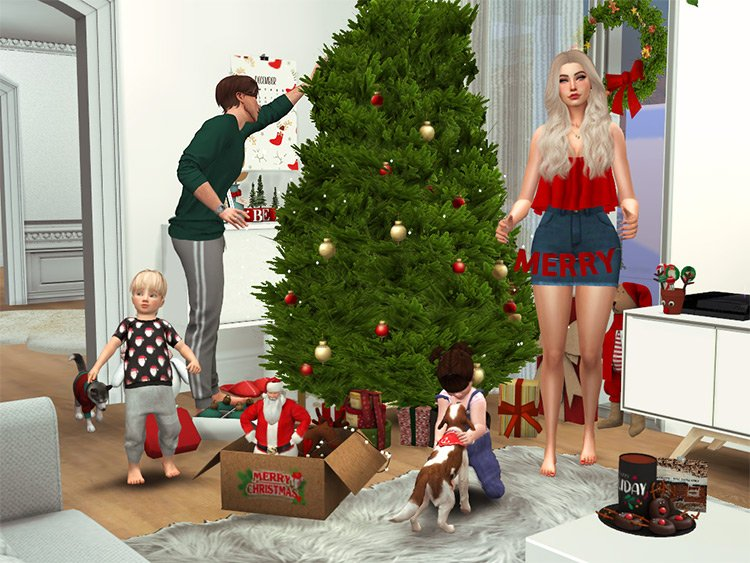 Merry Christmas Posepack for The Sims 4