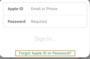 Click-On-Forgot-Apple-ID-And-Password
