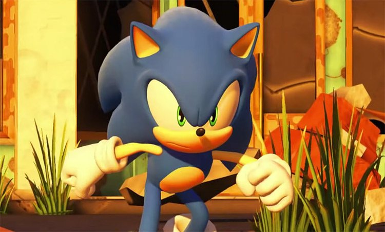 Sonic the Hedgehog from Sonic Forces screenshot
