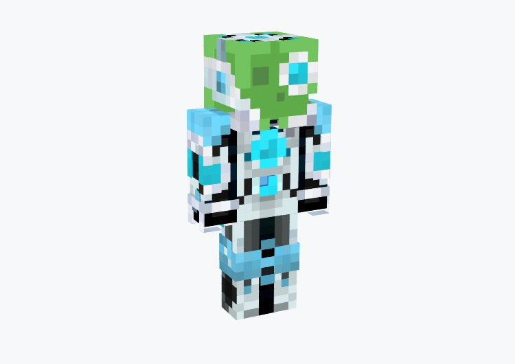 Cyber slime robot character / Minecraft Skin