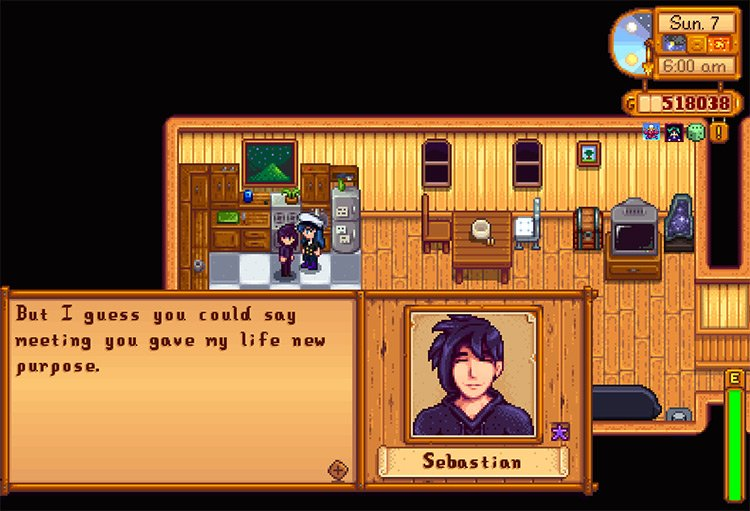 Post-Marriage Sebastian Expansion in Stardew Valley
