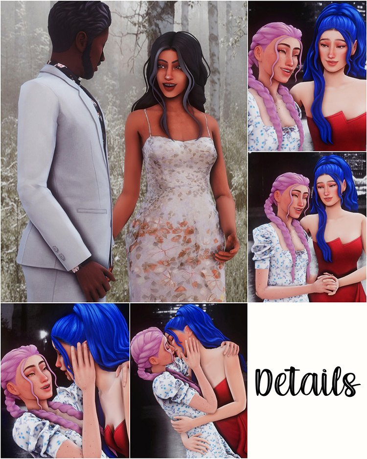 Prom Photos Pose Pack for The Sims 4